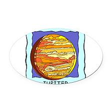 Planet Jupiter Oval Car Magnet