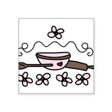 """Cooking Materials Square Sticker 3"""" x 3"""""""