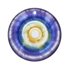 GALACTIC MORNING GLORY Ornament (Round)