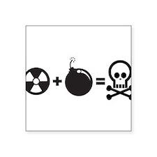 """Nuclear Bomb Square Sticker 3"""" x 3"""""""