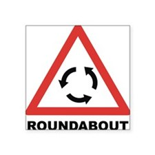 "Roundabout Square Sticker 3"" x 3"""