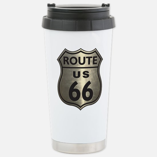 Chrome Route66 Stainless Steel Travel Mug