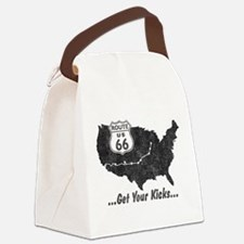 Retro Route66 Canvas Lunch Bag