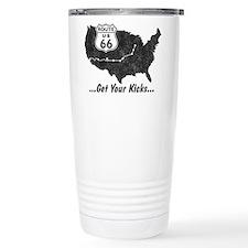 Retro Route66 Ceramic Travel Mug