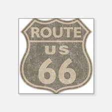 "Vintage Route66 Square Sticker 3"" x 3"""
