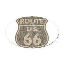 Vintage Route66 Oval Car Magnet