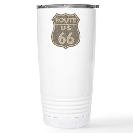 Vintage Route66 Stainless Steel Travel Mug