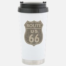 Vintage Route66 Stainless Steel Travel Mug