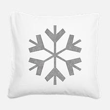 Vintage Snowflake Square Canvas Pillow