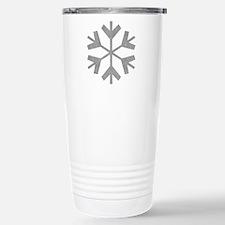 Vintage Snowflake Stainless Steel Travel Mug