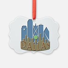 Dallas Skyline NewWave Beachy Ornament
