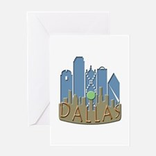 Dallas Skyline NewWave Beachy Greeting Card