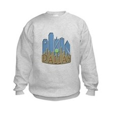 Dallas Skyline NewWave Beachy Sweatshirt