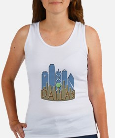 Dallas Skyline NewWave Beachy Women's Tank Top