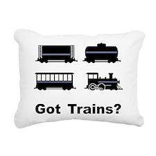 Got Trains? Rectangular Canvas Pillow
