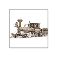 "Classic Train Square Sticker 3"" x 3"""