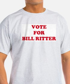 VOTE FOR BILL RITTER Ash Grey T-Shirt
