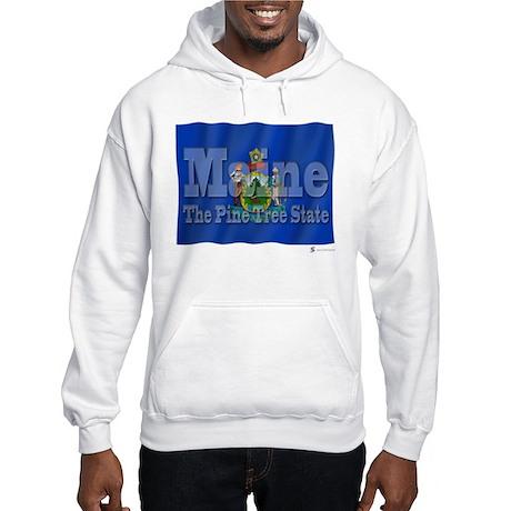 Maine The Pine Tree State Hooded Sweatshirt