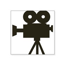 "Videocamera Square Sticker 3"" x 3"""
