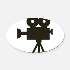 Videocamera Oval Car Magnet