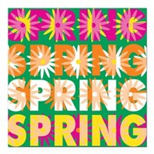 "Spring Square Car Magnet 3"" x 3"""