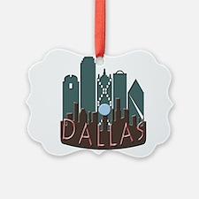 Dallas Skyline NewWave Chocolate Ornament