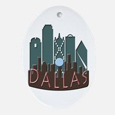 Dallas Skyline NewWave Chocolate Ornament (Oval)