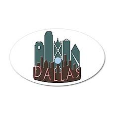 Dallas Skyline NewWave Chocolate Wall Decal