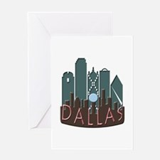 Dallas Skyline NewWave Chocolate Greeting Card