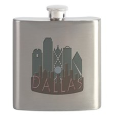 Dallas Skyline NewWave Chocolate Flask