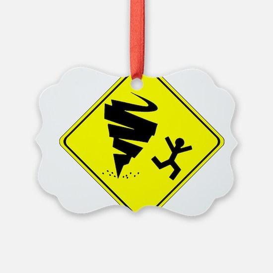Warning Tornado Ornament