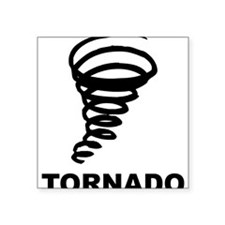"Tornado Square Sticker 3"" x 3"""