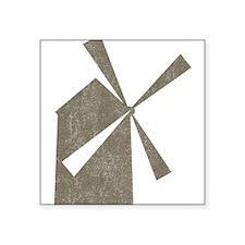"Vintage Windmill Square Sticker 3"" x 3"""