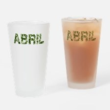 Abril, Vintage Camo, Drinking Glass