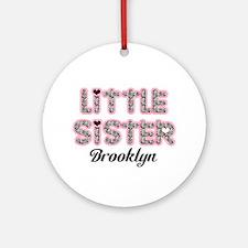 Custom little sister Ornament (Round)