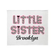 Custom little sister Throw Blanket