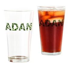 Adan, Vintage Camo, Drinking Glass