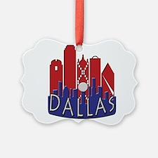 Dallas Skyline NewWave Patriot Ornament
