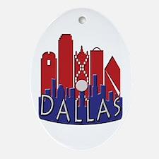Dallas Skyline NewWave Patriot Ornament (Oval)