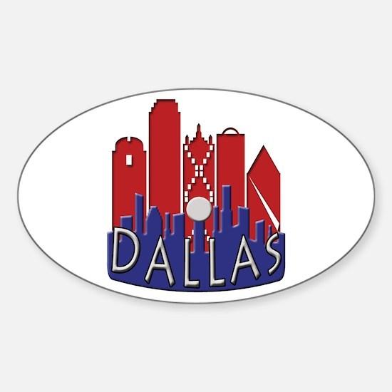 Dallas Skyline NewWave Patriot Sticker (Oval)