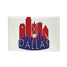 Dallas Skyline NewWave Patriot Rectangle Magnet