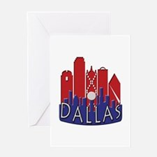 Dallas Skyline NewWave Patriot Greeting Card