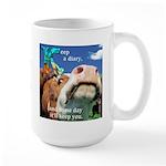 Keep a Diary Large Mug