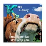 Keep a Diary Tile Coaster