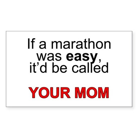 If a marathon was easy... Sticker (Rectangle)