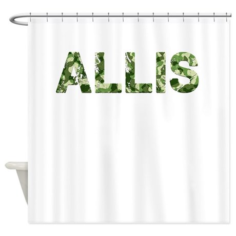 Allis Vintage Camo Shower Curtain By Thecafemarket