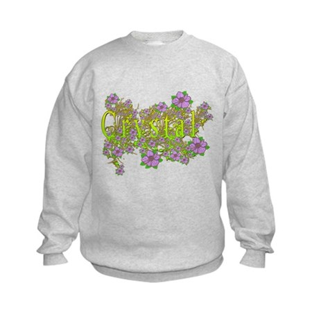 Crystal Floral Lavender Flowers yellow Gold Kids S