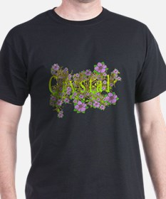 Crystal Floral Lavender Flowers yellow Gold T-Shirt