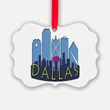 Dallas Skyline NewWave Cool Ornament
