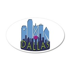 Dallas Skyline NewWave Cool Wall Decal